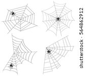 spider web  set spider webs ... | Shutterstock .eps vector #564862912