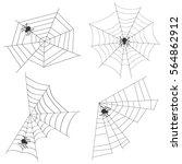 spider web  set spider webs ... | Shutterstock .eps vector #564862912