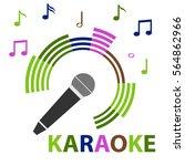 karaoke icon  karaoke... | Shutterstock .eps vector #564862966
