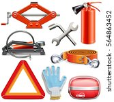 vector car accessories | Shutterstock .eps vector #564863452