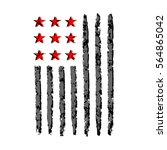 american flag grunge  symbol... | Shutterstock . vector #564865042