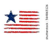 american flag grunge  symbol... | Shutterstock . vector #564865126