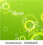 green circles. vector background | Shutterstock .eps vector #56486605