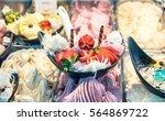 ice cream with strawberries in...   Shutterstock . vector #564869722