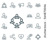 set of 16 social icons.... | Shutterstock .eps vector #564870046