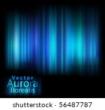 vector aurora lights | Shutterstock .eps vector #56487787