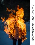 burning clothes on the... | Shutterstock . vector #564879742