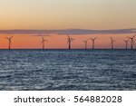 offshore wind farm turbines... | Shutterstock . vector #564882028