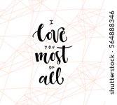 romantic valentine day card.... | Shutterstock .eps vector #564888346