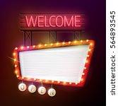 vector illustration of welcome... | Shutterstock .eps vector #564893545
