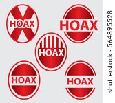 set of hoax text in red color... | Shutterstock .eps vector #564895528