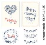 typographic valentine's...   Shutterstock .eps vector #564911425
