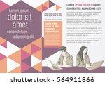 template for advertising... | Shutterstock .eps vector #564911866