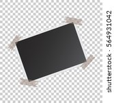 photo frame with adhesive tape... | Shutterstock .eps vector #564931042