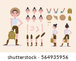 character animation. a set of... | Shutterstock .eps vector #564935956