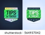tips and tricks banners. flat... | Shutterstock .eps vector #564937042