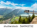 people standing on the... | Shutterstock . vector #564943732