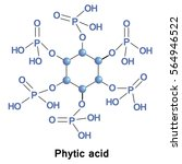 phytic acid is a saturated... | Shutterstock .eps vector #564946522