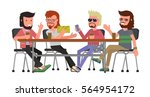 cartoon bright  colorful banner ... | Shutterstock .eps vector #564954172