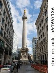 Small photo of British Lifestyle Editorial Image 22 Oct 2016, Monument to the Great Fire of London built in 1677 called the Monument locally, it is a Doric column in the City of London.