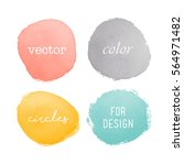 watercolor elements for design | Shutterstock .eps vector #564971482