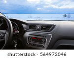 winter landscape of the... | Shutterstock . vector #564972046