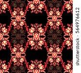 damask floral seamless pattern... | Shutterstock .eps vector #564976612