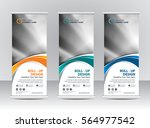roll up banner stand template... | Shutterstock .eps vector #564977542