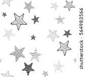 stars seamless pattern. white... | Shutterstock .eps vector #564983566