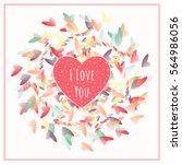 i love you card. congratulation ... | Shutterstock .eps vector #564986056