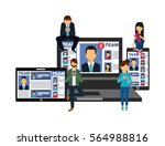 laptop computer  smartphone and ...   Shutterstock .eps vector #564988816