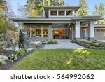 luxurious new construction home ... | Shutterstock . vector #564992062