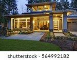 luxurious new construction home ... | Shutterstock . vector #564992182