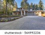luxurious new construction home ... | Shutterstock . vector #564992236