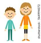 children in sportswear figure   Shutterstock .eps vector #564994072