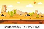 desert cartoon vector