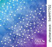 abstract dna background. vector ... | Shutterstock .eps vector #564997702