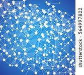 abstract dna background. vector ... | Shutterstock .eps vector #564997822