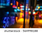 display of stock market quotes... | Shutterstock . vector #564998188