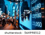 display of stock market quotes... | Shutterstock . vector #564998512