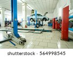 interior of a car repair station | Shutterstock . vector #564998545