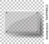 vector glass frame with steel... | Shutterstock .eps vector #564998812