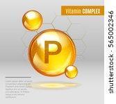 vitamin p gold shining pill... | Shutterstock .eps vector #565002346