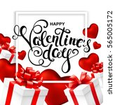 happy valentines day greeting... | Shutterstock .eps vector #565005172