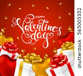 happy valentines day greeting... | Shutterstock .eps vector #565005352
