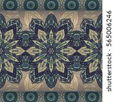 ornate floral seamless texture  ... | Shutterstock .eps vector #565006246