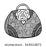 hand drawn of woman's handbag.... | Shutterstock .eps vector #565013872