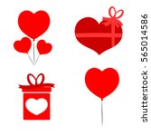 set icons  valentines day  flat ...