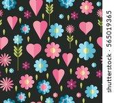 cute flat background  vector... | Shutterstock .eps vector #565019365
