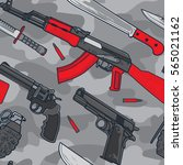 military and terrorist weapon... | Shutterstock .eps vector #565021162